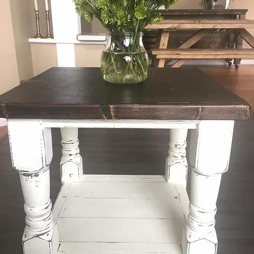 Machada Rustic Modern End Table | CUNA Furniture Makers