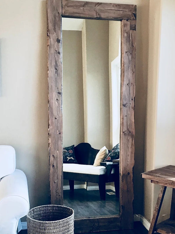 Rustic Modern Floor Mirror | CUNA Furniture Makers