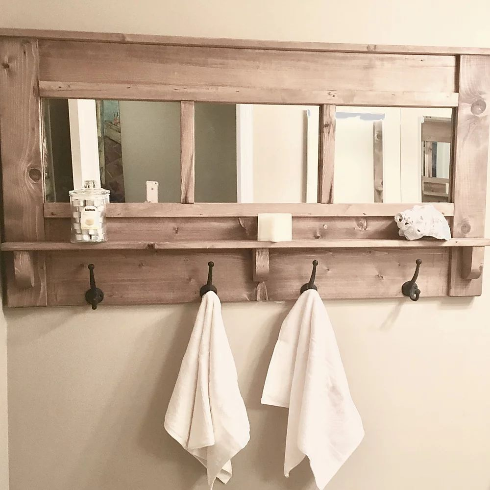 Mirror with hangers | | CUNA Furniture | Custom Furniture Alberta