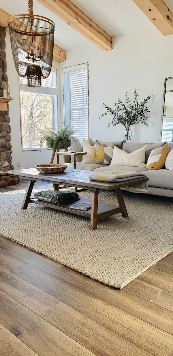 Olivia Rustic Modern Wood Coffee Table | CUNA Furniture Makers
