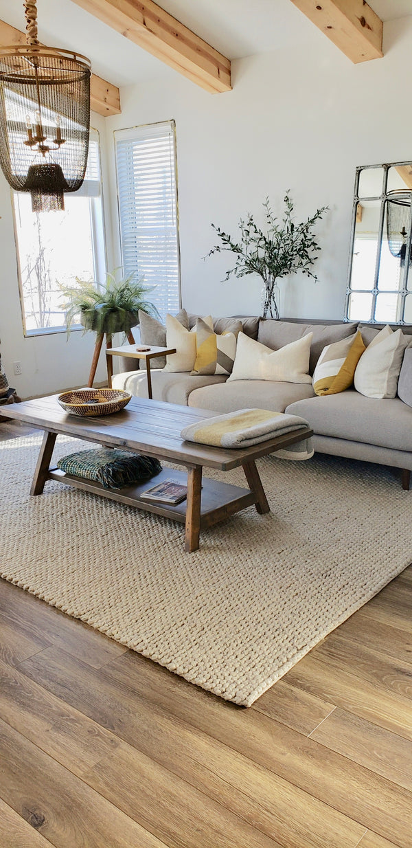 Olivia Rustic Modern Wood Coffee Table | CUNA Mediterranean Concept