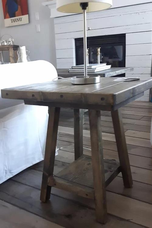 Olivia Rustic Wood End Tables | CUNA Mediterranean Concept
