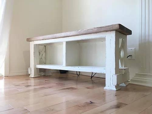Entry Bench Entry Storage  | Cuna Furniture Makers | Custom Furniture