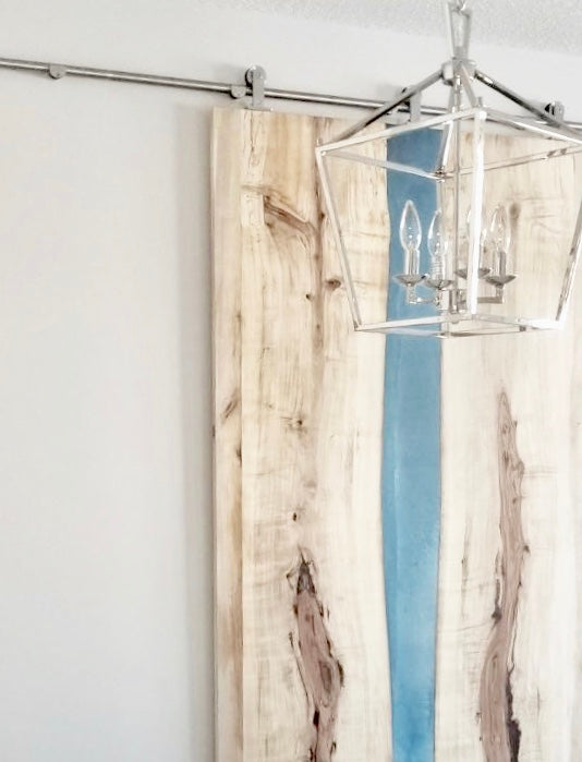 Rustic Sliding Barn Door | CUNA Furniture Makers | Custom Furniture Alberta