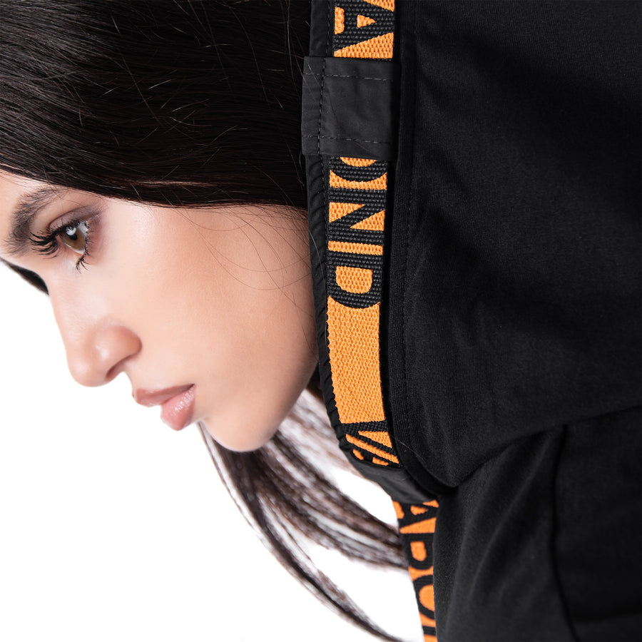 ORANGE STRIPE HOODIE T-SHIRT - T21849