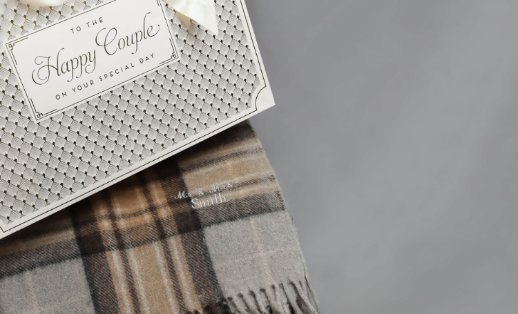 embroidery cashmere blanket
