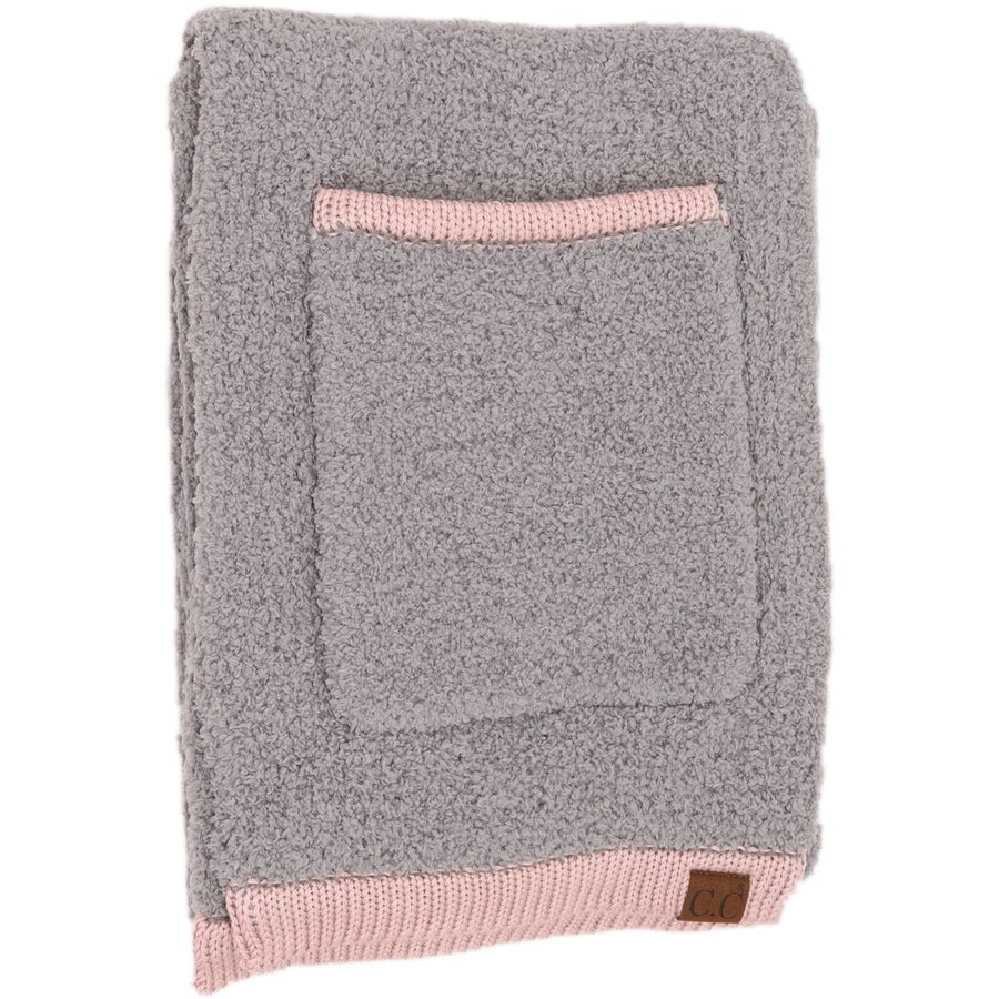 CC Color Block Sherpa Scarf