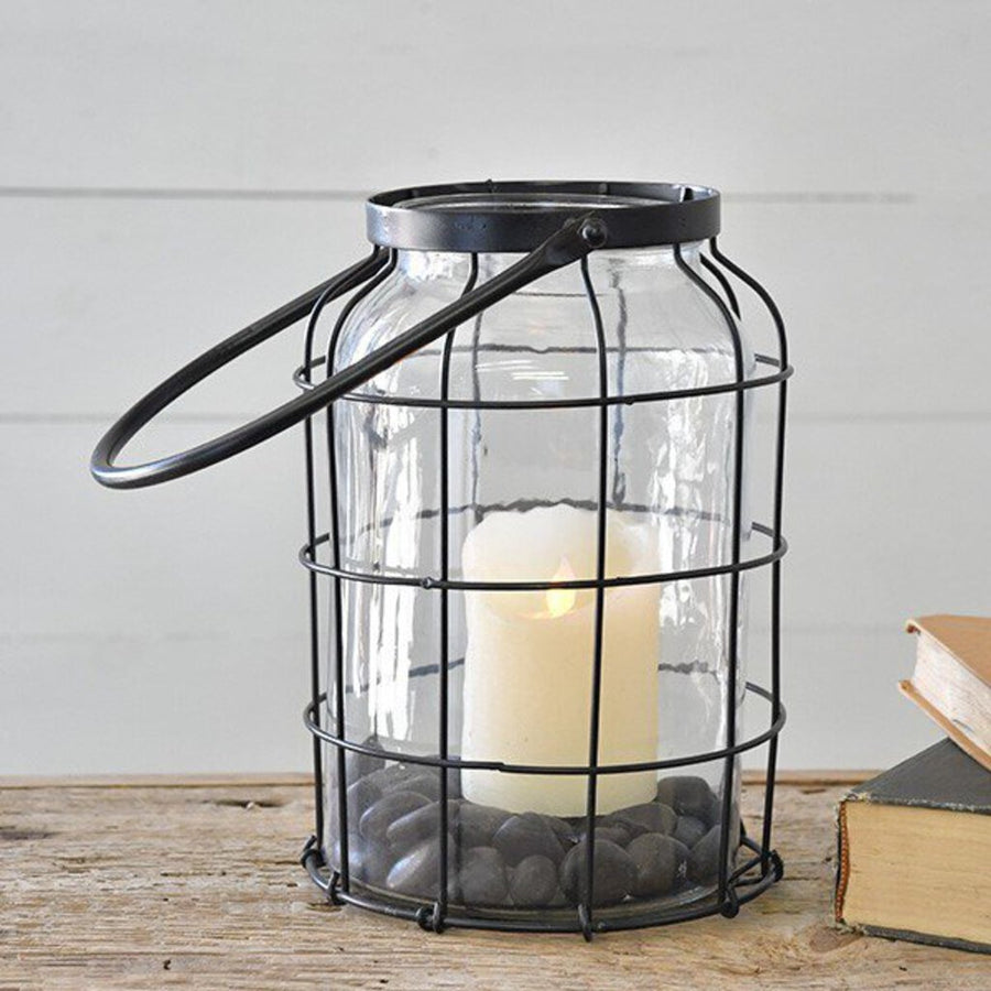 "10"" CAGED CANDLE JAR"