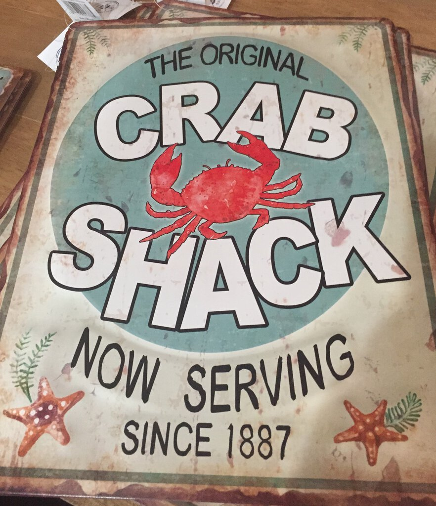 Crab Shack Iron Sign