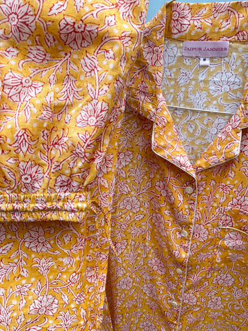 Long Sleeve Pyjama Set - Turmeric