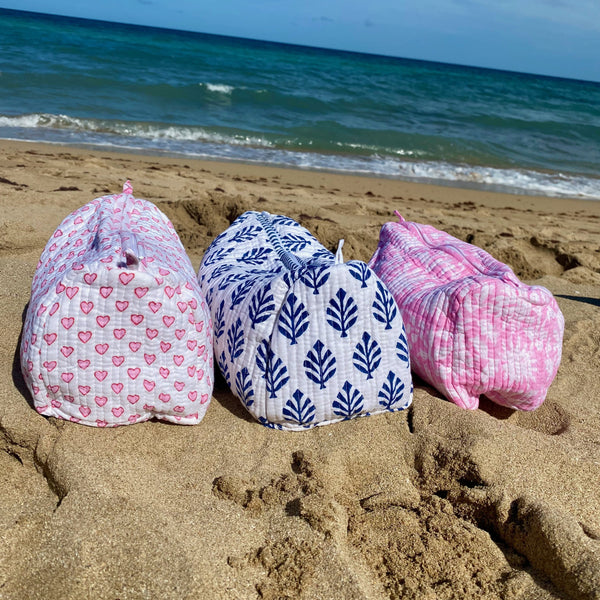 Wash Bag Trio - Darling Dahlias