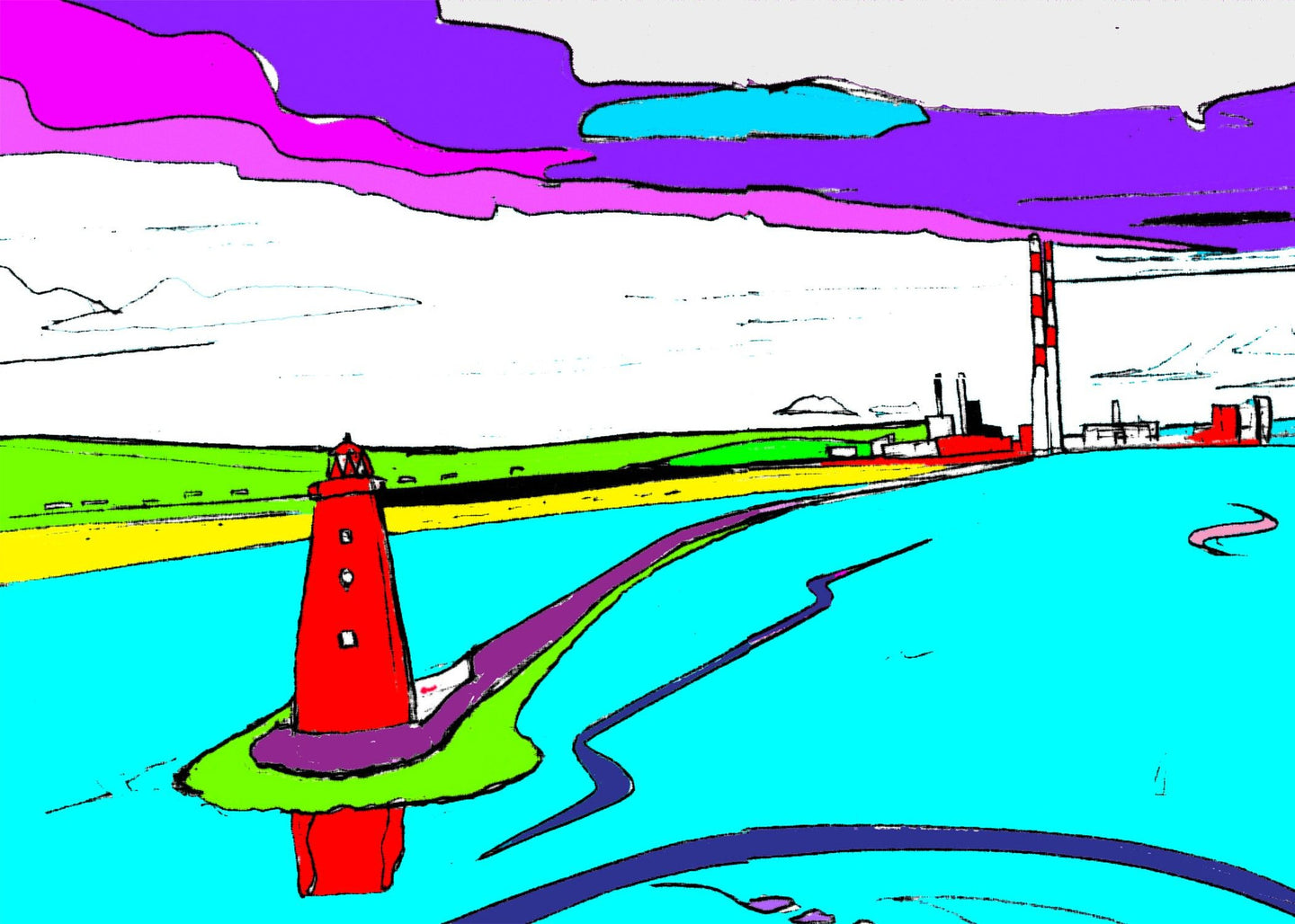 Poolbeg From the Sea
