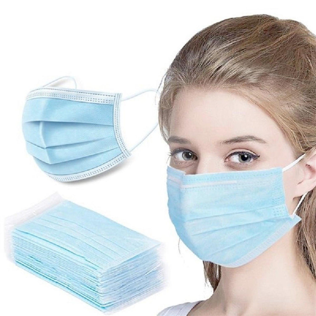 50/100 Disposable 3 Layers Nonwoven Masks - Swift Vogue