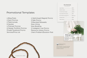 Instagram Content Marketing Templates (Canva + Photoshop)