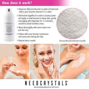 Microdermabrasion Crystals 8 oz. / 227 g. DIY Face Scrub with Salicylic