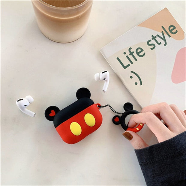 Cute Cartoon Minnie Soft Silicone Case For Apple Airpods