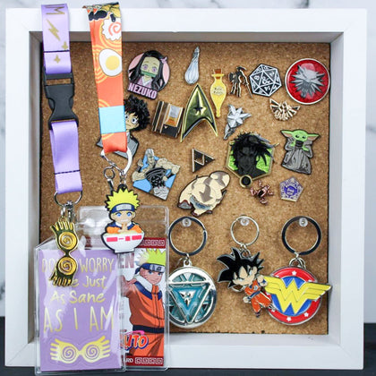 Pins, Keychains, & Lanyards