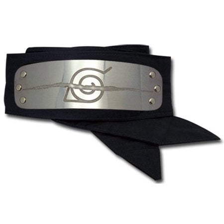 In the anime Naruto, a forehead protector is a headband composed of a metal plate and a band of cloth. These iconic headbands are worn by most shinobi and are engraved with the symbol of their hidden village. The 'Anti Leaf ' symbol is worn by those who have chosen to visibly scratch out their former connection to Leaf Village by carving a gash across the village emblem.  Itachi is one such character.