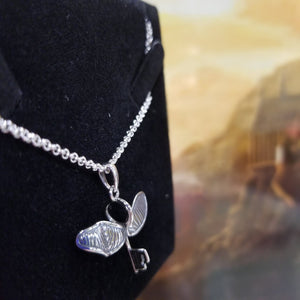Harry Potter Flying Key with a Broken Wing Necklace Sterling Silver