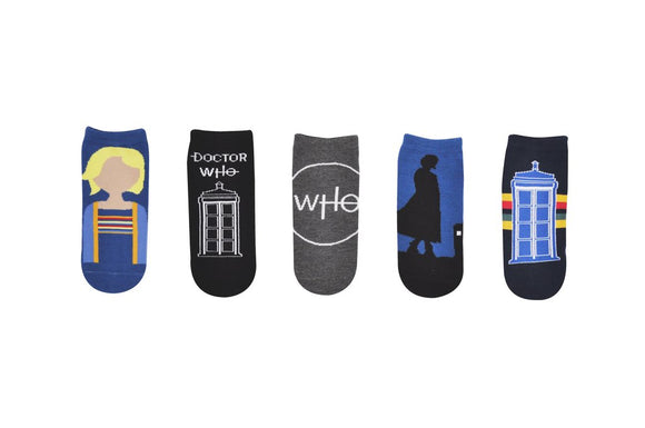 13th Doctor Ankle Socks 5 Pack