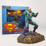 Lex Luthor DC Gallery Statue Destroy Superman!  A Diamond Select Toys release! Lex Luthor dons his powerful armor to take on Superman in this DC Comics-inspired Gallery Diorama!  Raising his hand to fire a Kryptonite-fueled blast, this Lex Luthor sculpture measures approximately 9 inches tall.