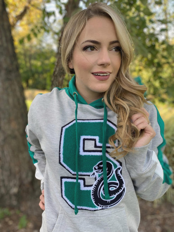 Slytherin Chenille Patch Hogwarts House Hoodie