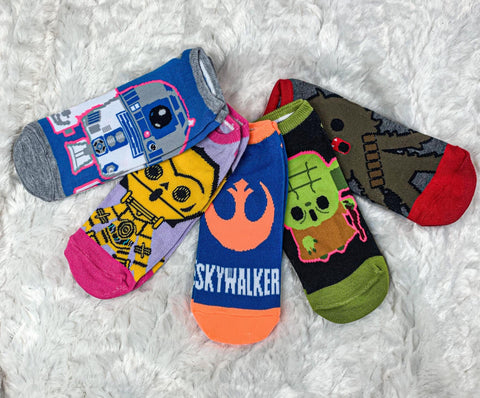 Star Wars Womens Ankle Sock Multicolor 5 Pair Set