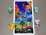Pokemon Modern Fine Art Print by Kat Tatz