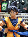 the charm and energy of the Dragon Ball franchise shines through this limited edition figure of Son Goku, based on his poster appearance for the 20th film in the Dragon Ball franchise: Dragon Ball Super the Movie.  With a smile on his face and staff in hand, there's not an ounce of fear in this statue! Case in high quality pvc, this statue simultaneously captures Goku's best qualities while still bringing to mind all of the greatest fights from the beloved series!  Details:  Goku 20th Film Edition Statue