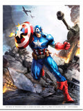 """The Price of Freedom is High"" Captain America Print by Dominic Glover"