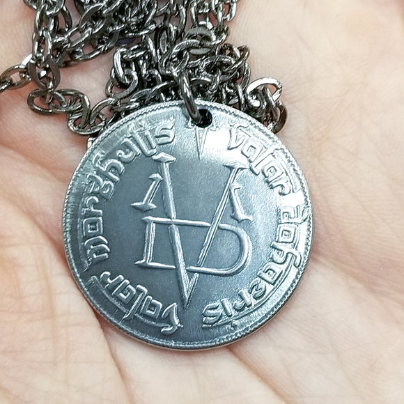 Valar Morghulis Faceless Man Coin Game of Thrones Necklace
