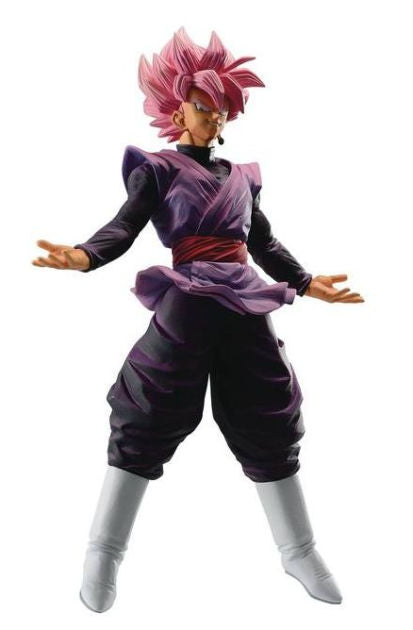 Fans of the anime series Dragon Ball must have this statue. The Dragon Ball Dokkan Battle Goku Black Super Saiyan Rose Ichiban Statue will look great displayed on any shelf in your home or office. Measures about 7 4/5-inches tall.