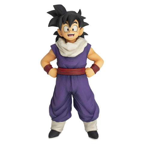 "From Dragon Ball Z, comes a Ekiden Son Gohan figure that stands about 6"" tall!  This pvc statue of young Gohan includes an alternate arm for the Ekiden Goku Statue (sold separately), so his father can be posed patting his head.  Details:  Gohan Ekiden Statue by Banpresto  Stands approximately 6"" tall Displays with Goku Ekiden Statue for a Father & Son Pair!"