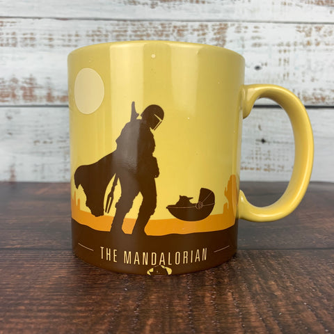 Mandalorian and The Child Desert Scene 20oz. Ceramic Mug