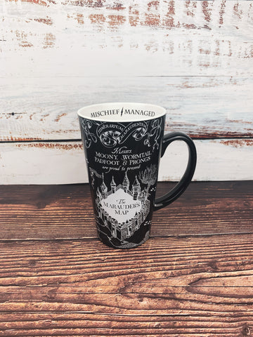 Marauder's Map 16oz. Ceramic Latte Mug
