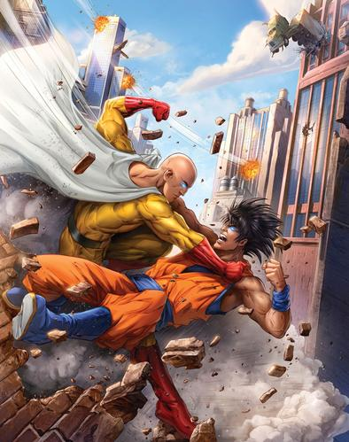 One Punch vs The Saiyan Print by Dominic Glover
