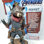 """Ain't no thing like me 'cept me!""  ―Rocket Racoon  The Guardian of the Galaxy finally gets his own Gallery Diorama! Based on his appearance in the Avengers: Endgame film by Marvel Studios, this perfect sculpture of Rocket measures approximately 7"" tall on a pedestal base."