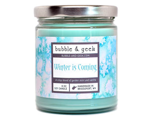 Winter is Coming Candle Jar