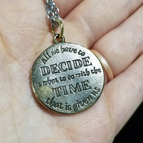 "Wisdom of Gandalf™ ""The Time That is Given To Us"" Bronze Pendant"