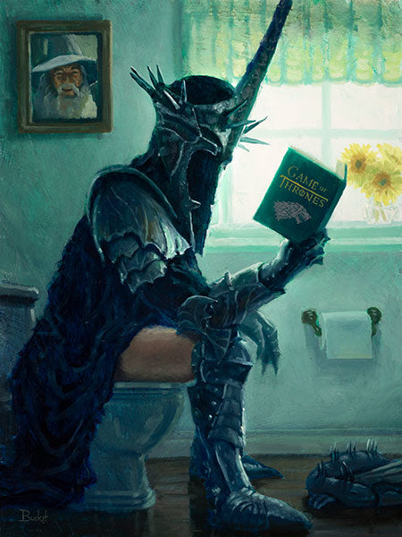 The Witch King Bathroom Art Print by Bucket