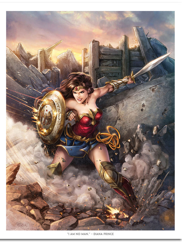 Princess of Themyscira Wonder Woman Art Print by Dominic Glover