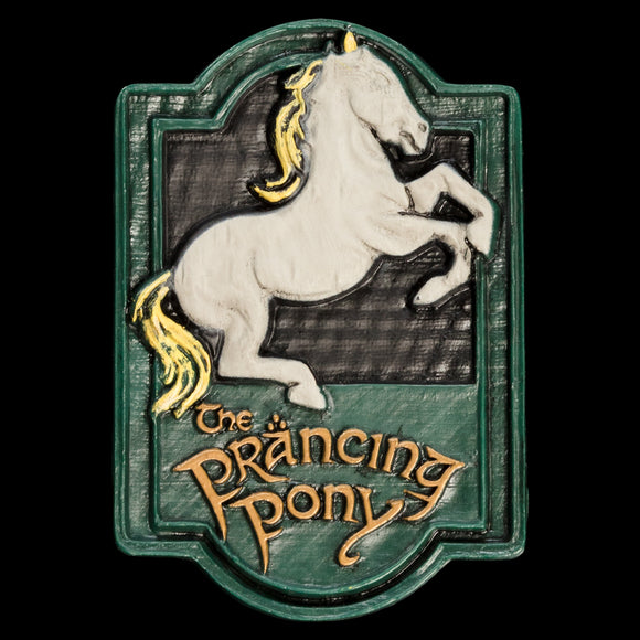 An artistic PVC magnet designed by the Weta artists who worked on The Lord of the Rings films, the Prancing Pony sign forms part of our range of collectible magnets from Weta.