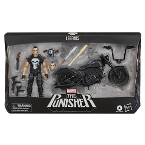 The Punisher with Motorcycle Marvel Legends Vehicle Set