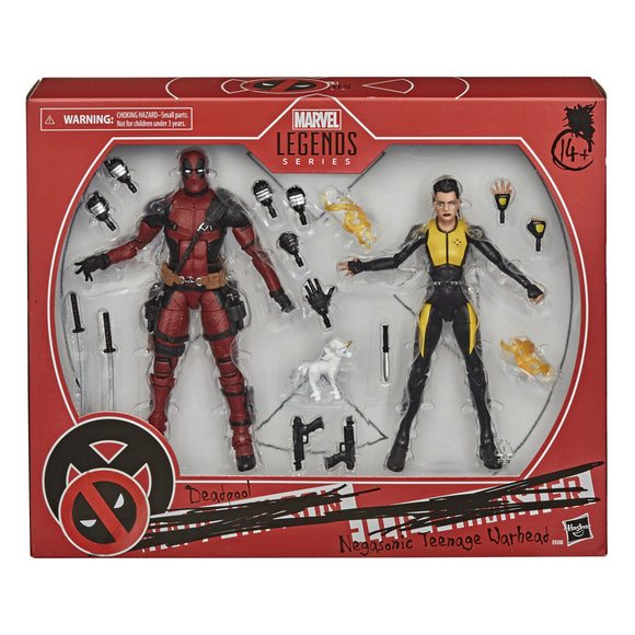 Deadpool & Negasonic Teenage Warhead X-Men Marvel Legends