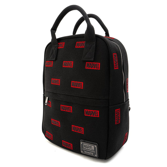 Marvel Comics Logo All Over Print Canvas Mini Backpack