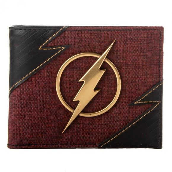 Flash Metal Badge Bi-Fold Wallet