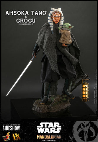 *Pre-Order* Ahsoka Tano & Grogu Baby Yoda from The Mandalorian Sixth Scale Figure by Hot Toys