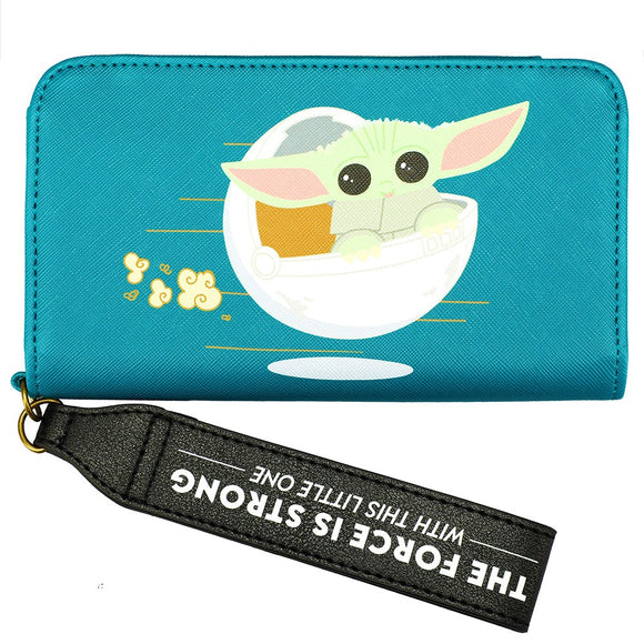The Child Baby Yoda Phone Wallet Wristlet