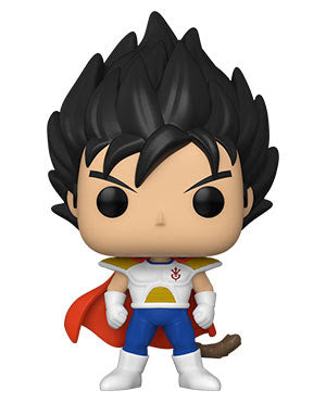 Child Vegeta Dragon Ball Z Funko Pop!  Well known within the fan and collector world—FunkoPop! vinyl figurines have become a fandom favorite unto themselves!  FunkoPop! figures measure approximately 3 3/4-inches tall. With their stylized animated eyes, large heads, and vibrant full-color window packaging, Funko from your favorite fandom are a welcome addition to any space!