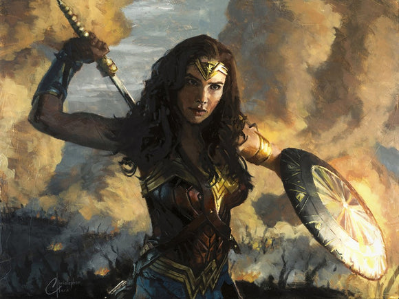Scorched Earth Wonder Woman Print by Christopher Clark